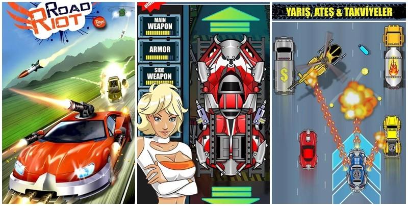 Android telefonlarınızda farklı bir araba yarışı deneyimi yaşamak için Road Riot oyununu indirin ve oynamaya başlayın